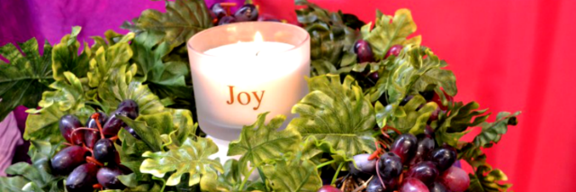Joy Advent candle