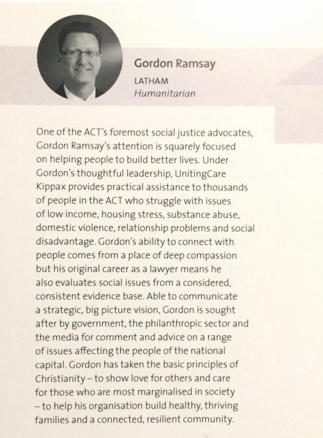 ACT finalist details